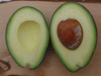Bild halbierte Avocados